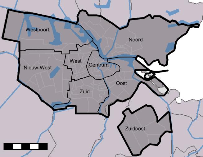Districts Amsterdam